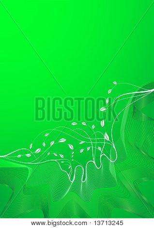 Abstract Spring Background Lines In The Green