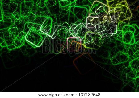 Abstract square eco background design illustration with space for your text