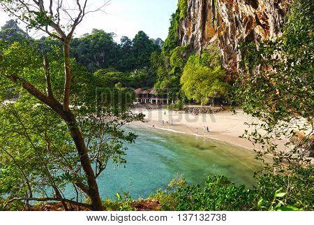 Beautiful view of Phranang Cave Beach, Thailand.