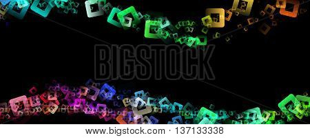 Abstract square panorama background design illustration with space for your text