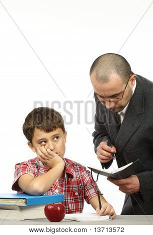 Schoolboy And Teacher