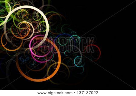 Fantastic Abstract Elegant Circle Background Design Illustration