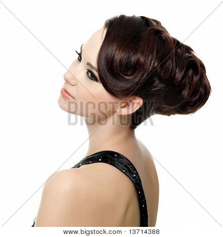 Girl With Modern Hairstyle