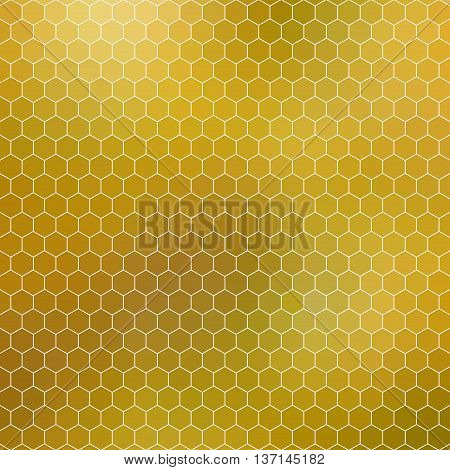 honeycomb background mosaic - abstract geometric hexagon grid shades of yellow