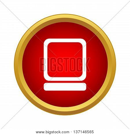 Computer icon in simple style on a white background