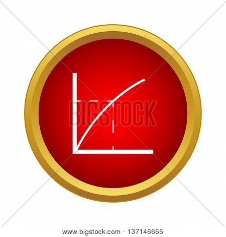 Business graph icon in simple style on a white background