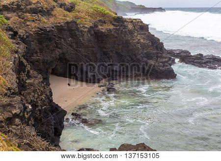 Gris Gris Beach coast of Mauritius panorama