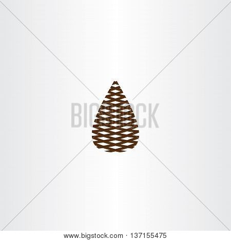 pinecone vector icon symbol design illustration element