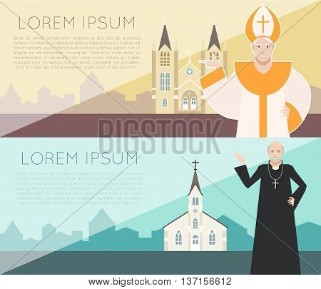 Vector image of the Catholic Church Banner