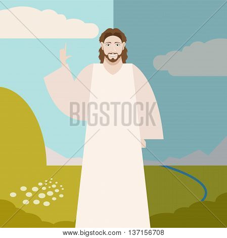 Vector image of the Jesus Christ Banner