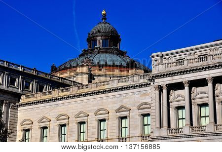 Washington DC - April 12 2014: Copper clad dome and the