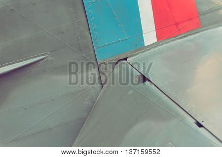 Close up of the vintage airplane Supermarine Spitfire
