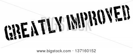 Greatly Improved rubber stamp on white. Print, impress, overprint.