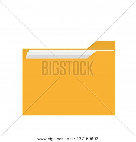 simple flat design icon folder with documents icon vector illustration