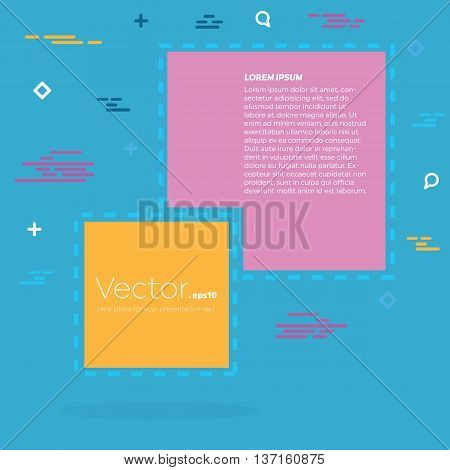 Abstract concept vector empty speech square quote text bubble. For web and mobile app isolated on background, illustration template design, creative presentation, business infographic social media.