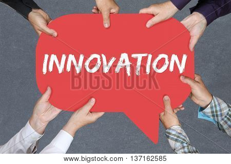 Group Of People Holding Innovation Idea Leadership Success Successful Winning Business Concept Innov