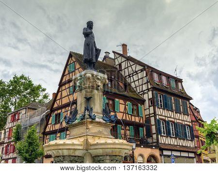 Roesselmann fountain created by Bartholdi, Colmar, France