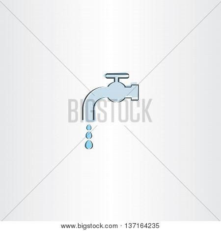 water drop tap vector icon emblem illustration element