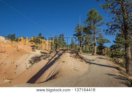 Queens garden trail in Bryce Canyon National Park Utah USA