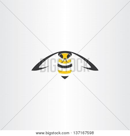 flying wasp vector icon insect illustration element
