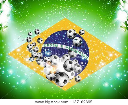 soccer football background background with light easy all editable