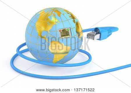 global network connection concept. 3D rendering isolated on white background