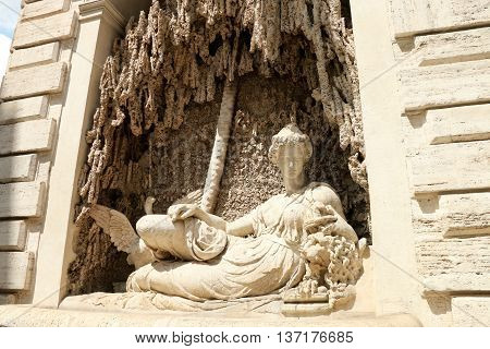 one of four Fountains in Rome, Italy :  the goddess Juno