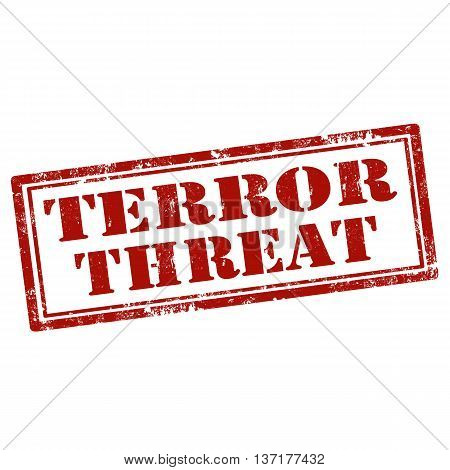 Grunge rubber stamp with text Terror Threat,vector illustration