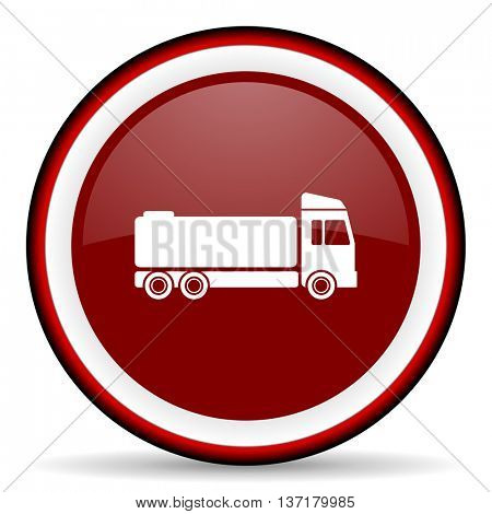 truck round glossy icon, modern design web element