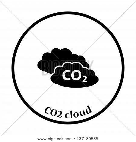 Co2 Cloud Icon