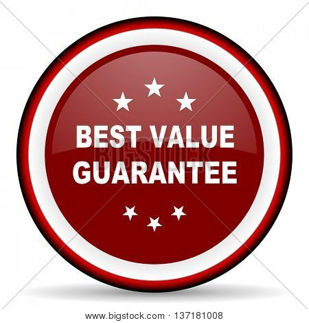 best value guarantee round glossy icon, modern design web element