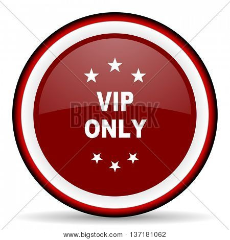 vip only round glossy icon, modern design web element