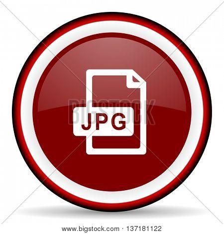 jpg file round glossy icon, modern design web element