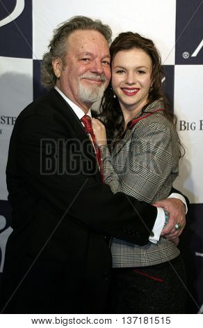 Amber Tamblyn and Russ Tamblyn at the Big Brothers Big Sisters of greater Los Angeles 'Rising Stars' 2004 Gala at the Beverly Hilton Hotel in Beverly Hills, USA on November 11, 2004.