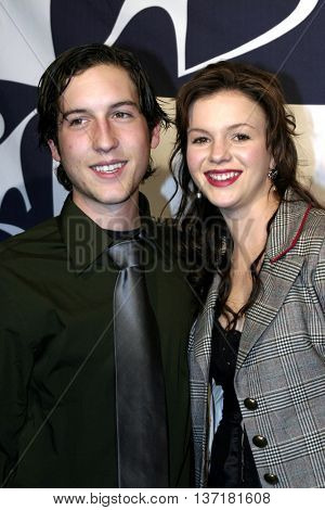 Chris Marquette and Amber Tamblyn at the Big Brothers Big Sisters of greater Los Angeles 'Rising Stars' 2004 Gala at the Beverly Hilton Hotel in Beverly Hills, USA on November 11, 2004.