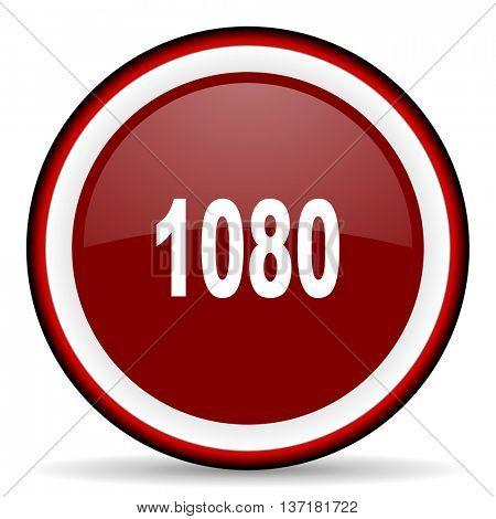 1080 round glossy icon, modern design web element