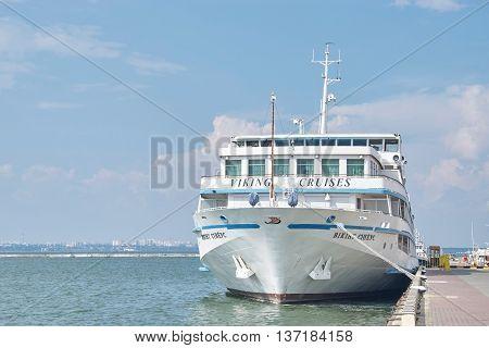 Cruise Ship Viking Sineus Came Into The Port Of Odessa, Ukraine