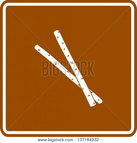 salted bread sticks sign