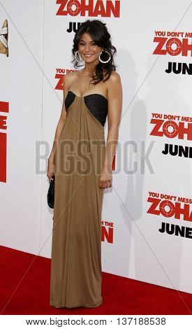 Emmanuelle Chriqui at the World premiere of 'You Don't Mess With The Zohan' held at the Grauman's Chinese Theater in Hollywood, USA on May 28, 2008.