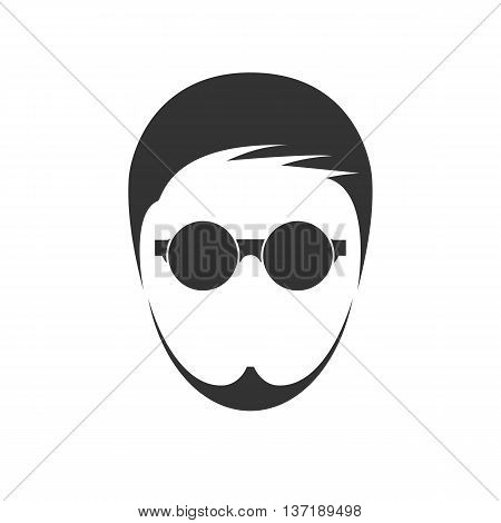 Men's haircut. Isolated on background. Vector illustration.