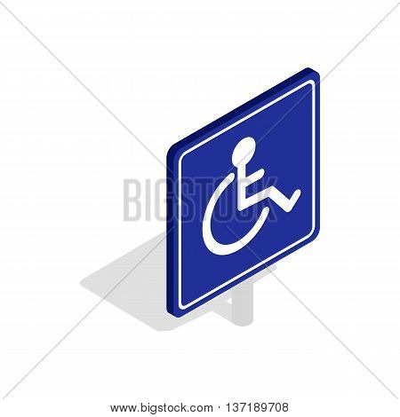 Disabled handicap icon in isometric 3d style isolated on white background