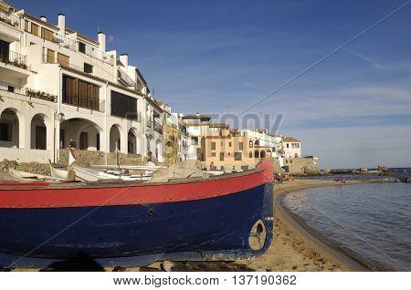 Port Bo Beach, Calella de Palafrugell, Costa Brava, Girona, Spain