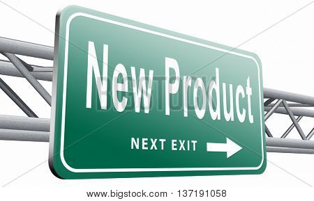 new product coming soon announcement arriving and available soon advertising news, road sign, billboard, 3D illustration, isolated, on white, background.