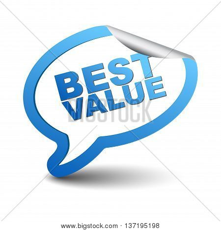 This is blue vector element bubble best value