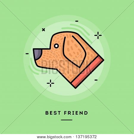 Best friend flat design thin line banner usage for e-mail newsletters web banners headers blog posts print and more