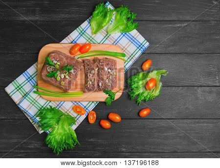 Meat Jelly Aspic Galantine