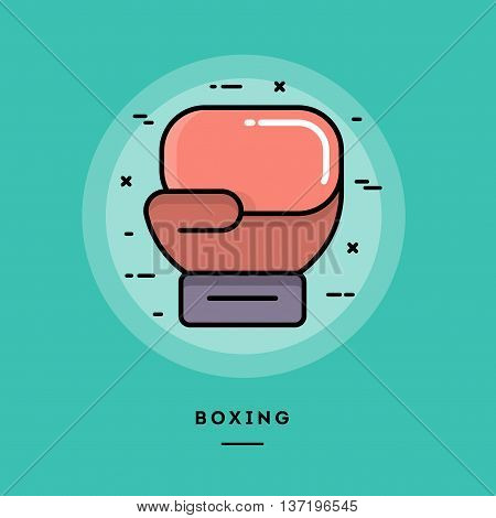 Boxing flat design thin line banner usage for e-mail newsletters web banners headers blog posts print and more