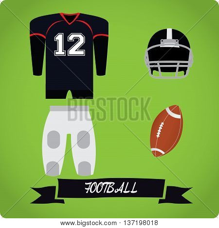 Football objects Sport uniform Vector illustration, football uniform