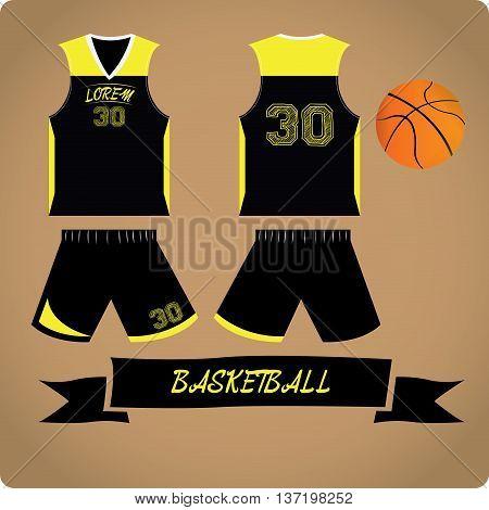 Basketball objects Sport uniform Vector illustration, Basketball ball