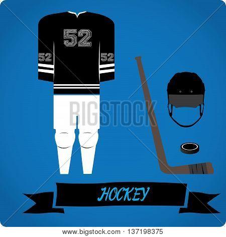 Hockey objects Sport uniform Vector illustration, Hockey puck